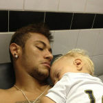 neymar-sleeping-next-to-his-child-and-son
