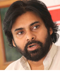 Hyderabad: Jana Sena chief and actor Pawan Kalyan addresses a press conference in Hyderabad, on March 6, 2015. (Photo: IANS)
