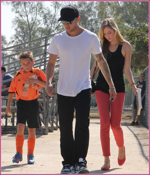 Ryan Phillippe And Girlfriend At Deacon's Soccer Game